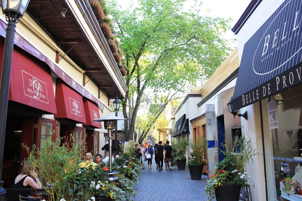 Shopping stores in downtown Yorkville, Toronto Canada