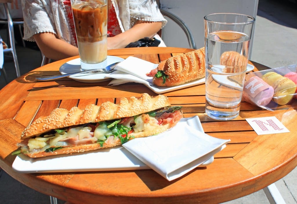 Travel blogger Mash Elle shares a lunch panini from Nadège Patisserie