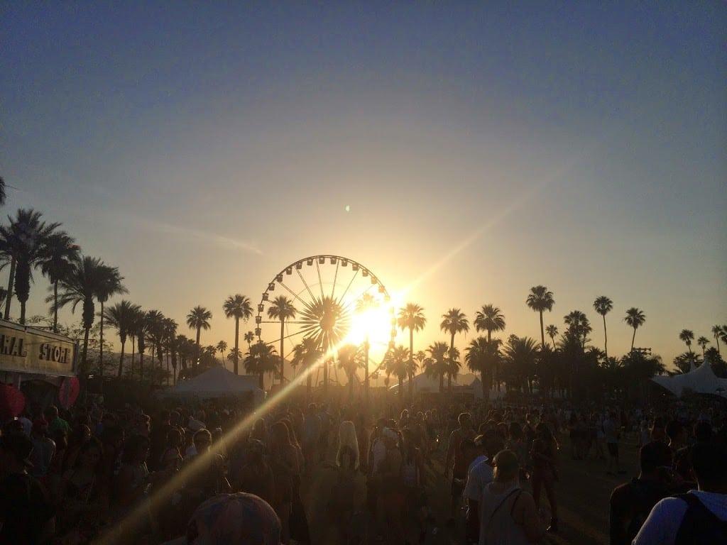 Coachella ferris wheel sunset photo
