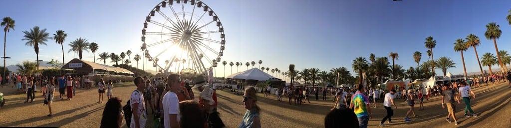 Coachella panoramic view desktop wallpaper iconic ferris wheel