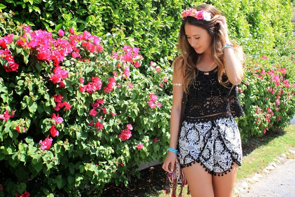 Floral crown inspiration at Coachella music festival