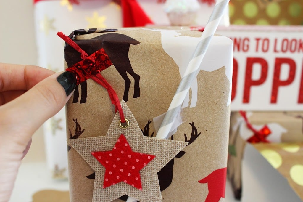 how to decorate gifts   glitter holiday decorations   christmas   Michelle Kehoe of Mash Elle