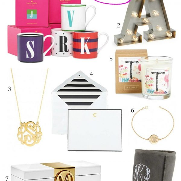 Fashion blogger Mash Elle shares the best monogram gifts for the monogram queen!