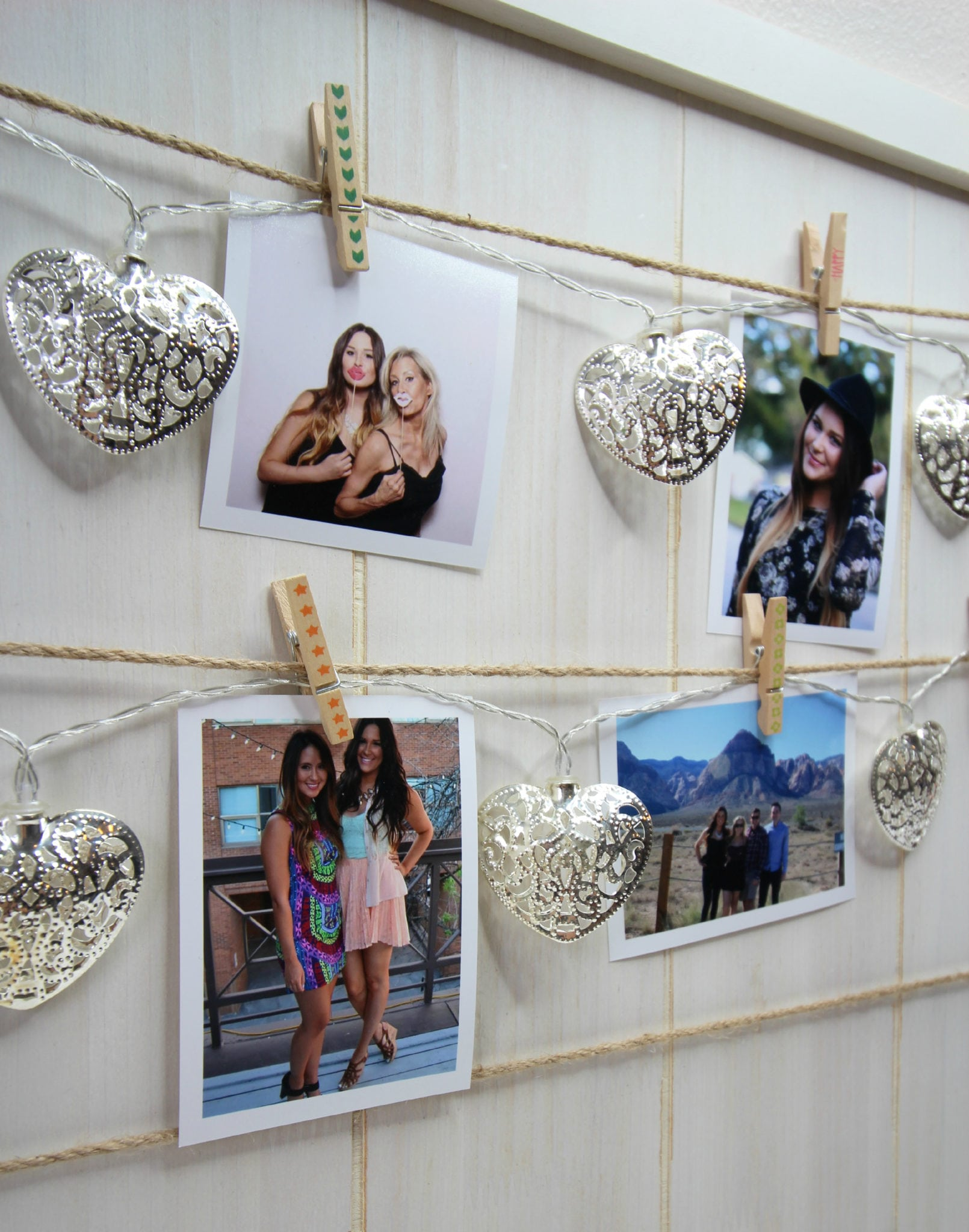Mash Elle photo memory board | Mash Elle photo memory board | DIY photos | hanging photos in your room | dorm ideas | easy DIY | polaroid photos