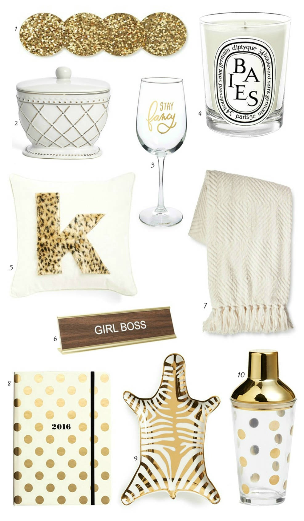 gifts for the girlboss | gifts for your sister, mom, friend, co-worker, aunt, and more! | sequins | polka dots | kate spade | diptique | gifts for the hostess | shop bop | nordstrom