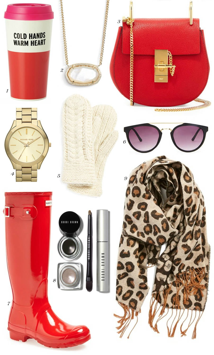 best gifts for teenagers | affordable gifts for her | red hunter boots | Chloe designer bag | Kate Spade cold hands warm heart | gifts she will love | Christmas gifts | Michelle Kehoe of Mash Elle