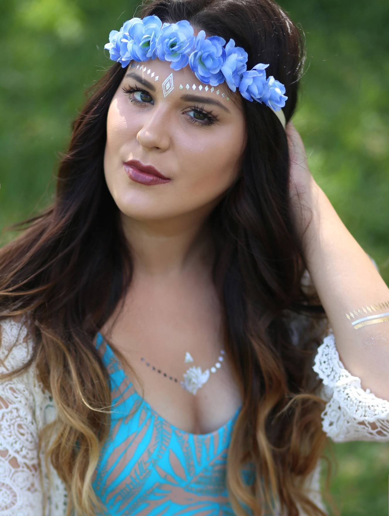 how to wear and style flash tattoos | festival outfit ideas | Target | Target fashion | beauty blogger Mash Elle | boho style | festival outfits | festival style coachella outfit ideas