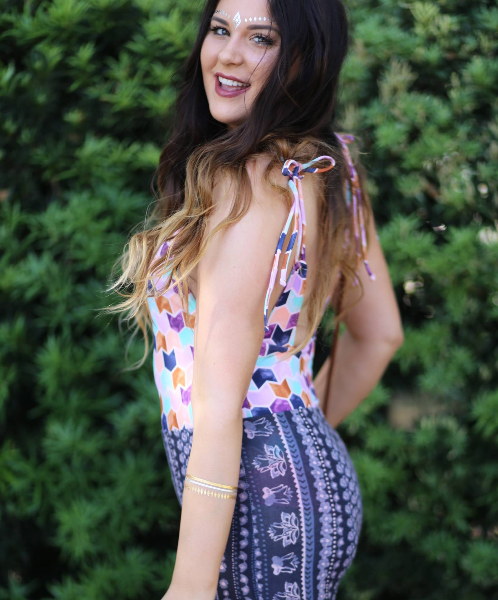 how to wear a one piece bathing suit | festival outfit ideas | Target | Target fashion | beauty blogger Mash Elle | boho style | festival outfits | festival style coachella outfit ideas