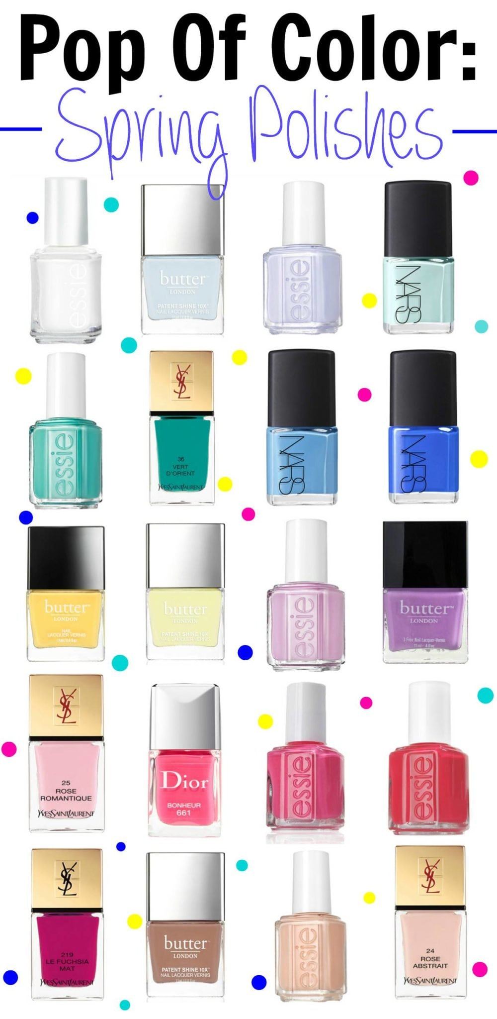 20 Nail Colors For Spring