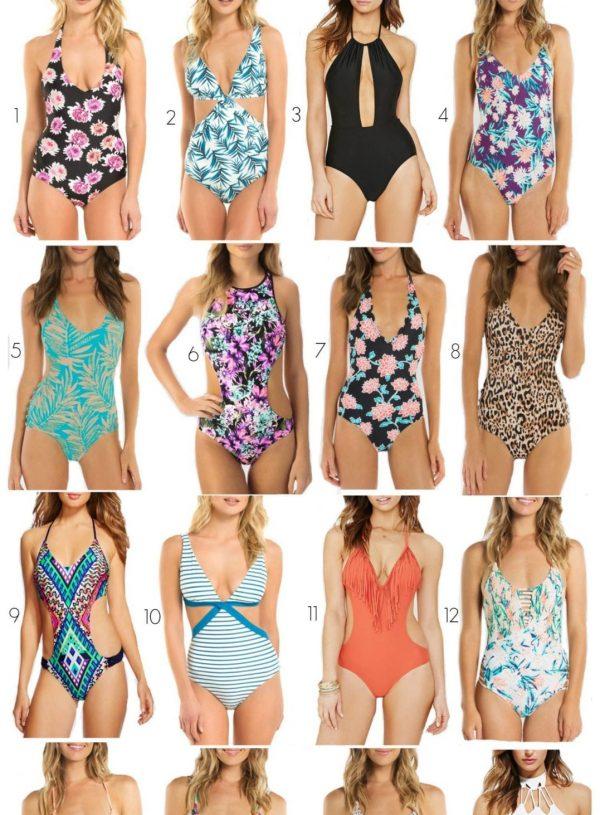 Splurge Vs. Steal: One-Piece Swimsuits