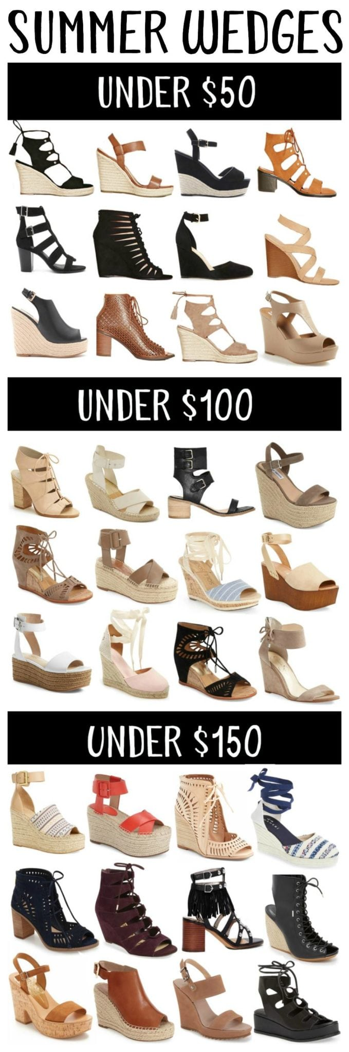 Summer Wedges Roundup