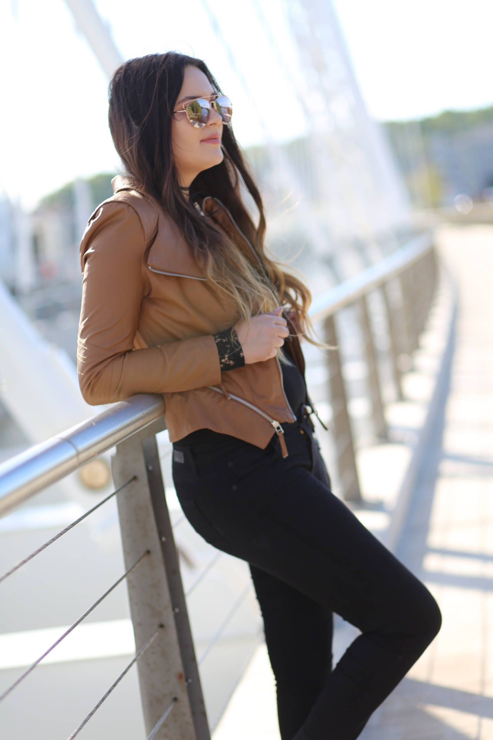 the best faux leather jacket where to buy the best sunglasses | leather and lace | fall fashion | Mash Elle beauty blogger