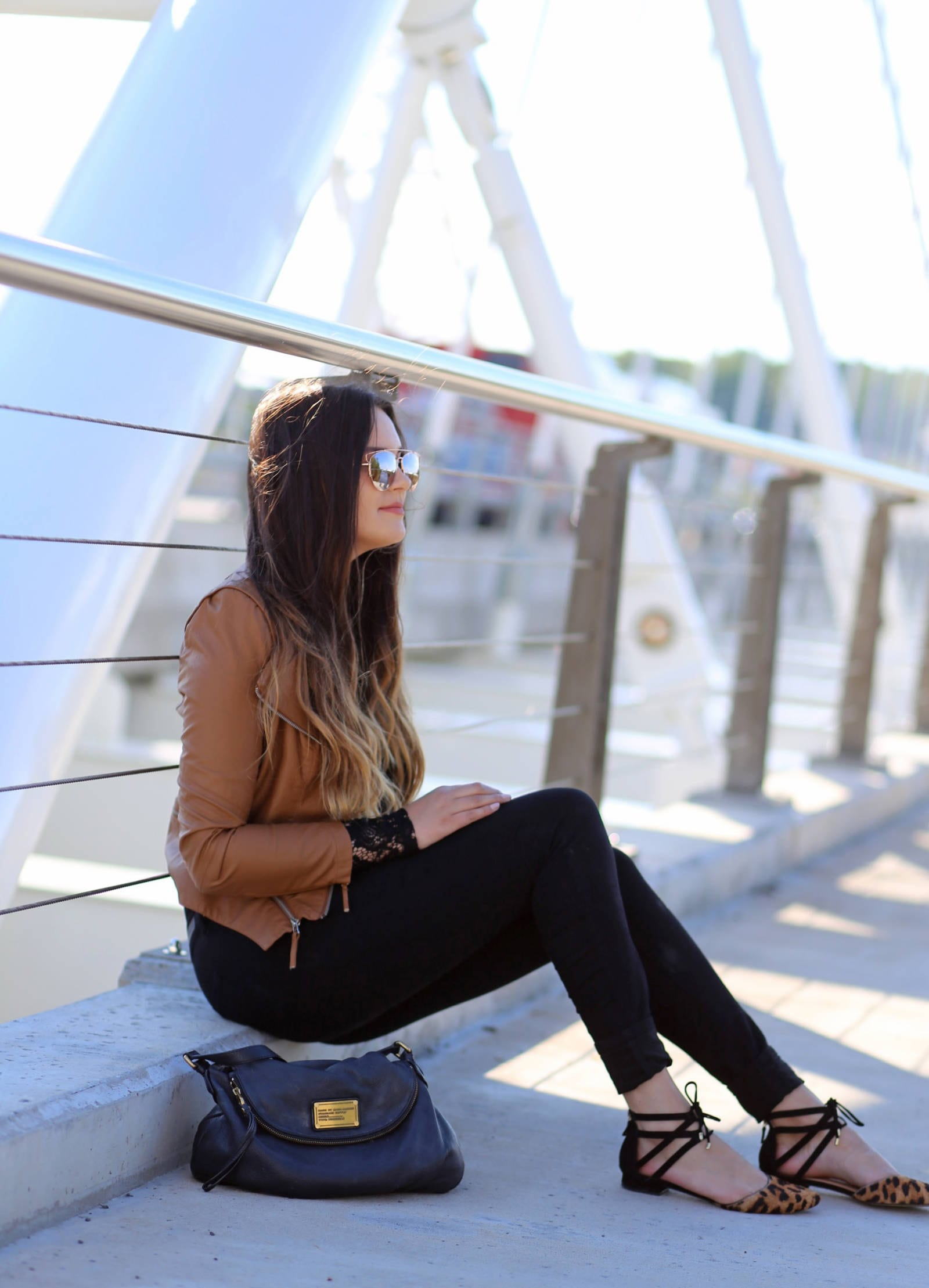 how to style a leather jacket for fall