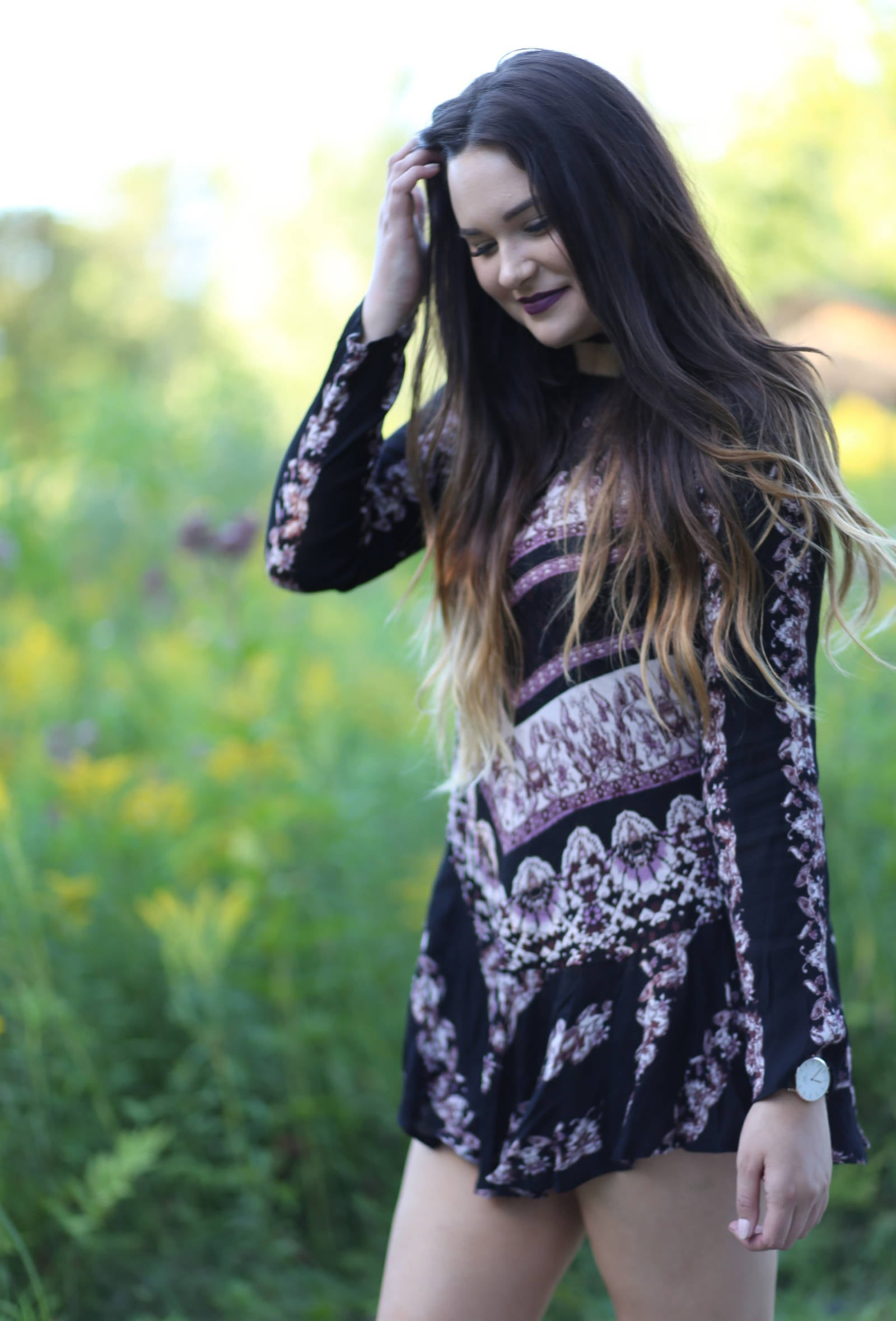 Fashion blogger Mash Elle styles a Free People tunic dress for fall |tunic dress | fall style