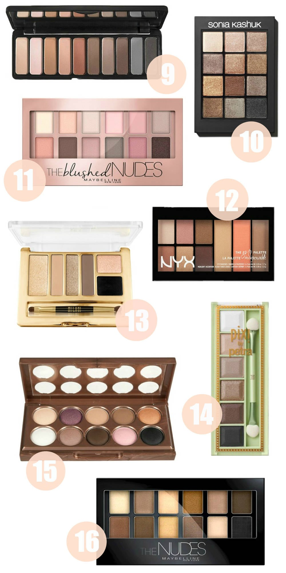 Beauty blogger Mash Elle shares her favorite eyeshadow palettes under $20 - The Best Drugstore Eyeshadow Palettes Under $20 by popular Orlando beauty blogger Mash Elle