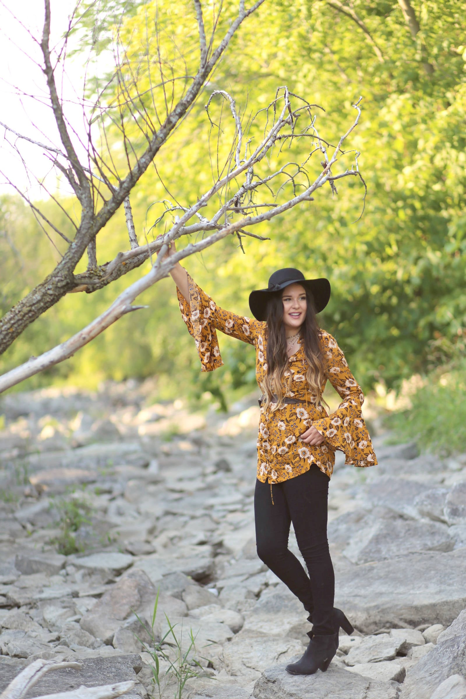 free people outfit | free people outfit inspiration | free people | tunic | yellow tunic | style blogger Mash Elle