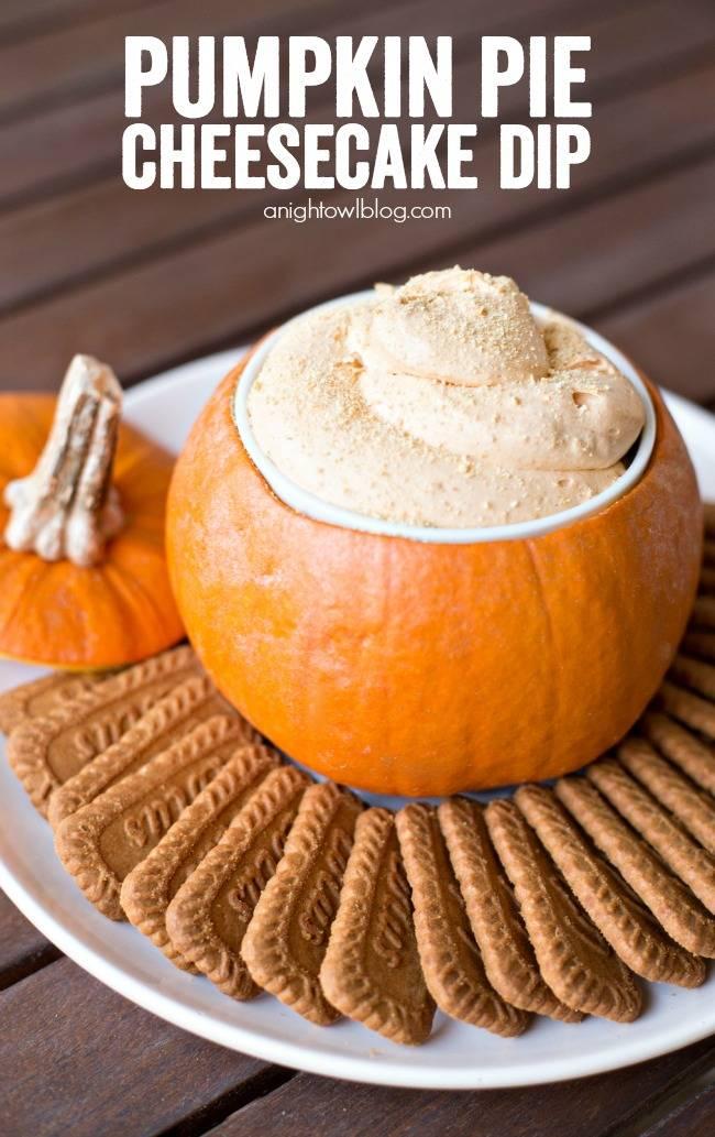 pumpkin-pie-cheesecake-dip-hero | the top pumpkin dessert recipes for fall | fall recipes | pumpkin recipes