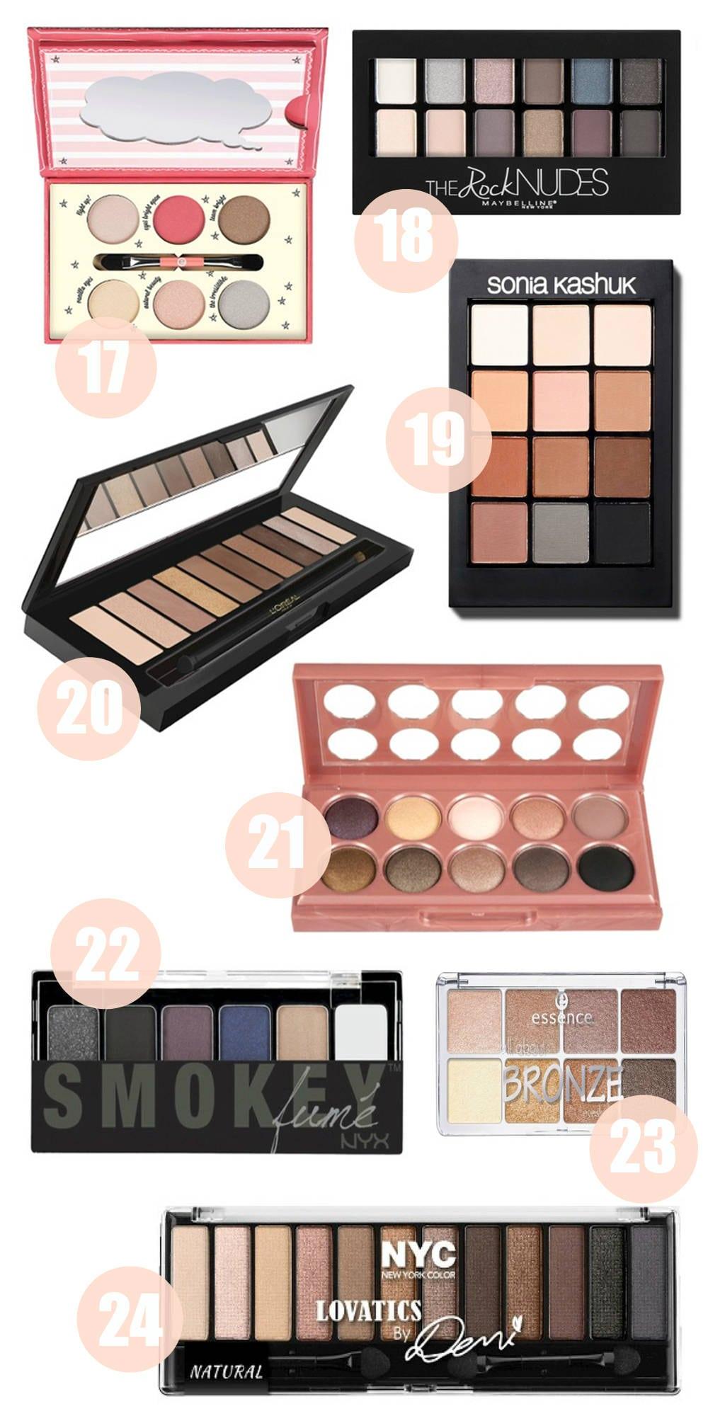 Beauty blogger Mash Elle shares her top eyeshadow palettes under $20 - The Best Drugstore Eyeshadow Palettes Under $20 by popular Orlando beauty blogger Mash Elle