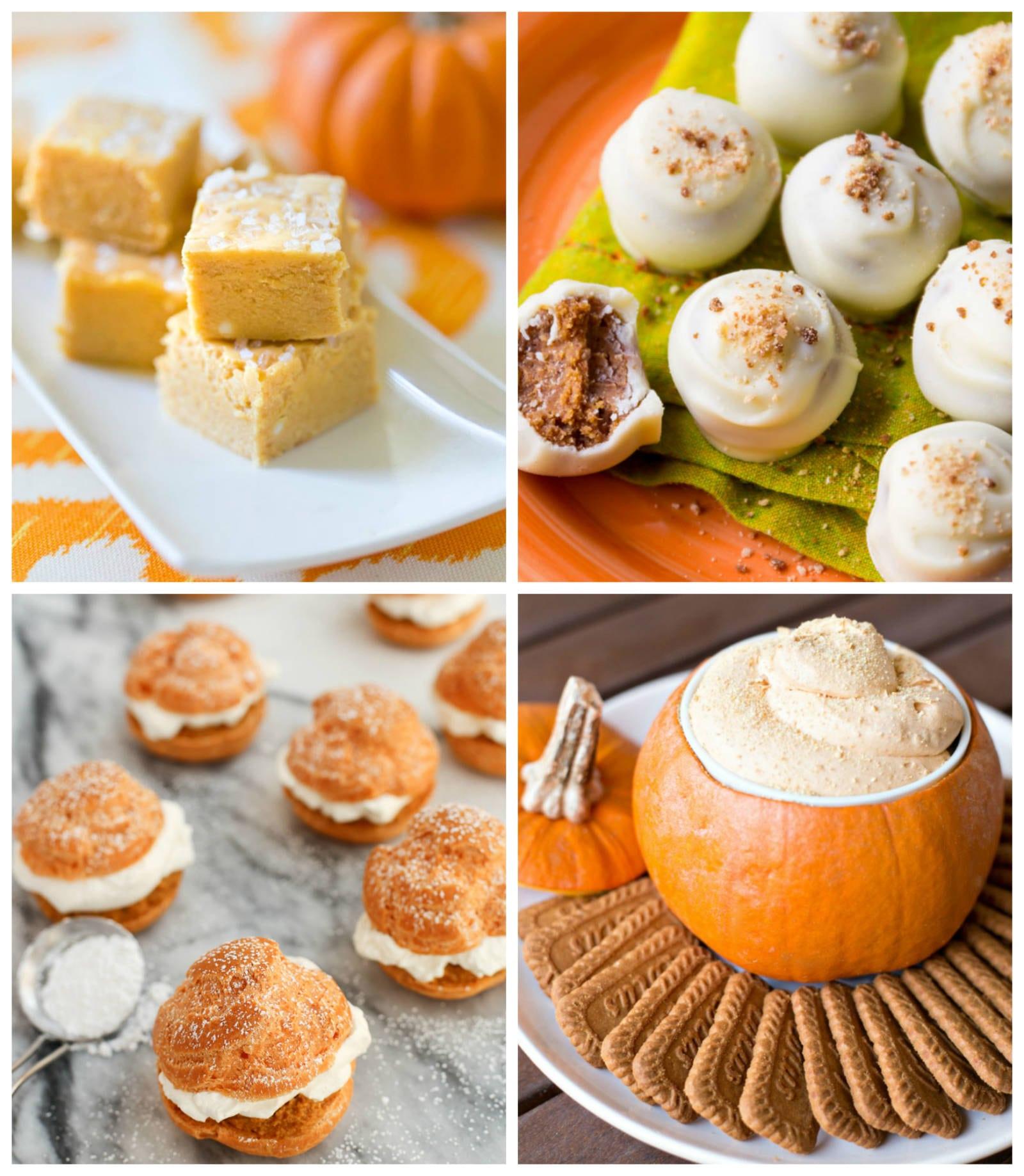 the top pumpkin dessert recipes for fall | fall recipes | pumpkin recipes
