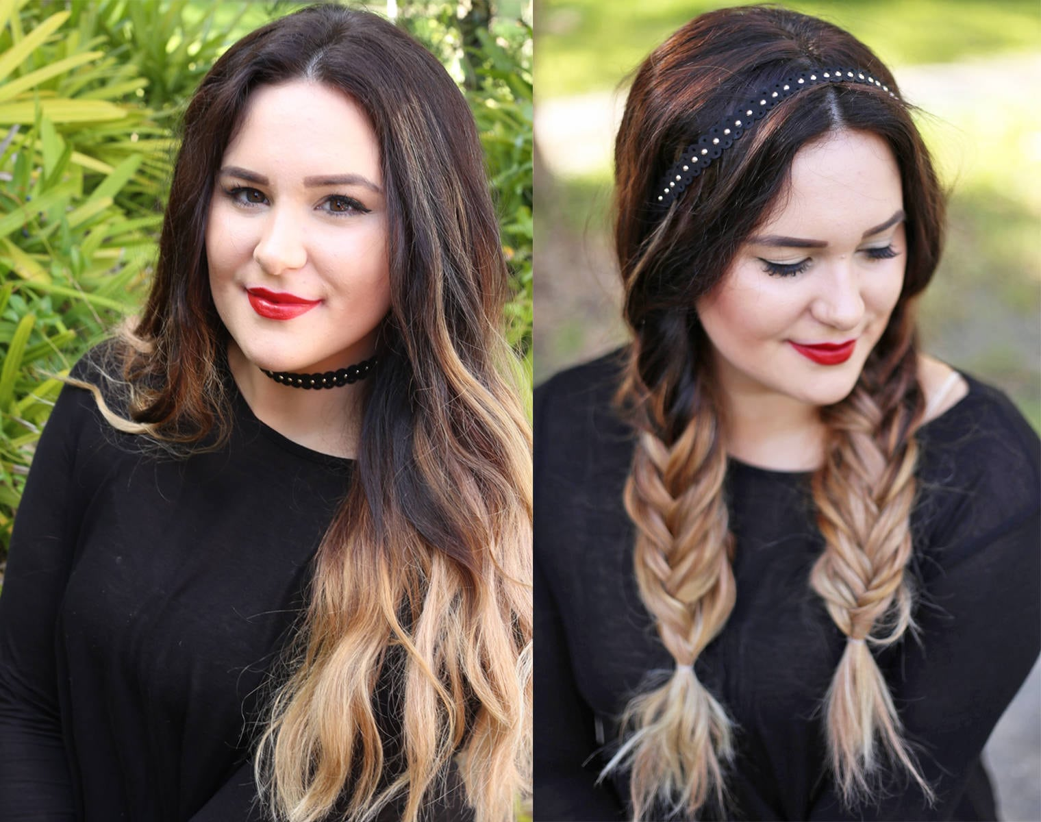 Beauty and fashion blogger Mash Elle shows how you can use a choker as a hair accessory in this fishtail ponytail tutorial