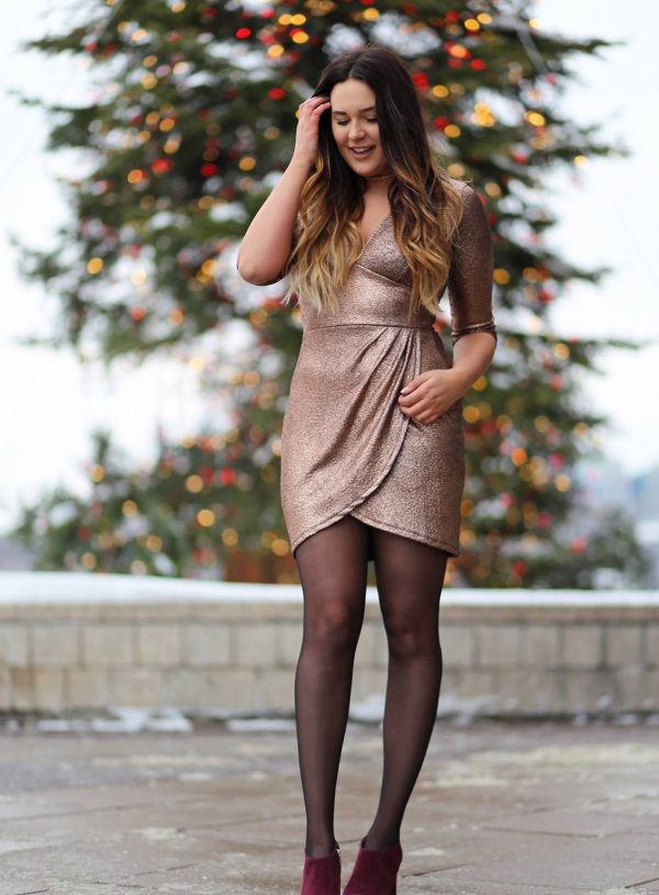 how to style metallic bodycon dress beauty blogger Mash Elle