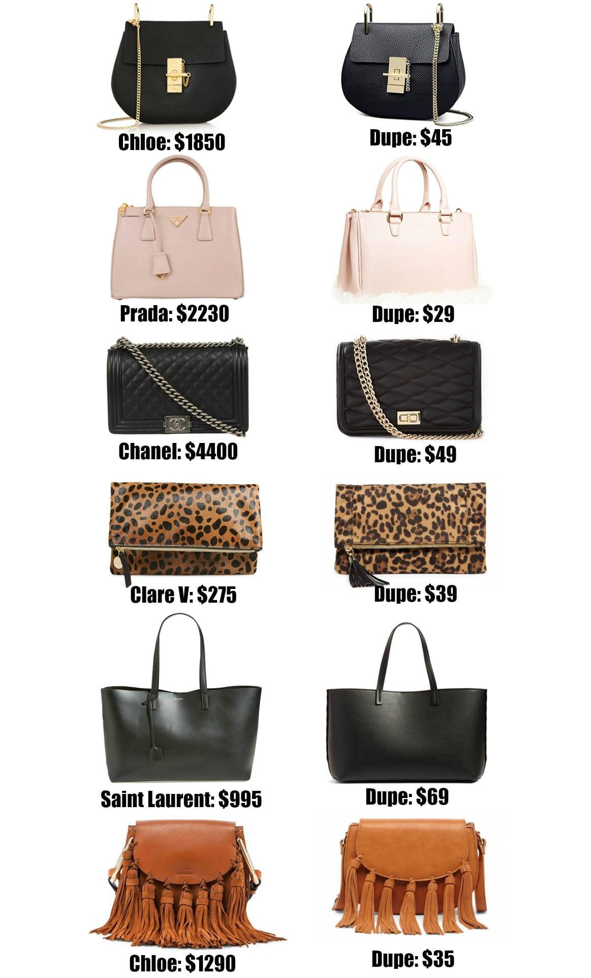 The Ultimate Designer Bag Dupes Guide Fashion Mash Elle