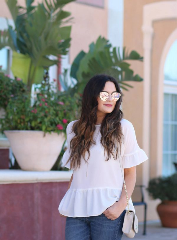 How To Style A White Ruffle Top