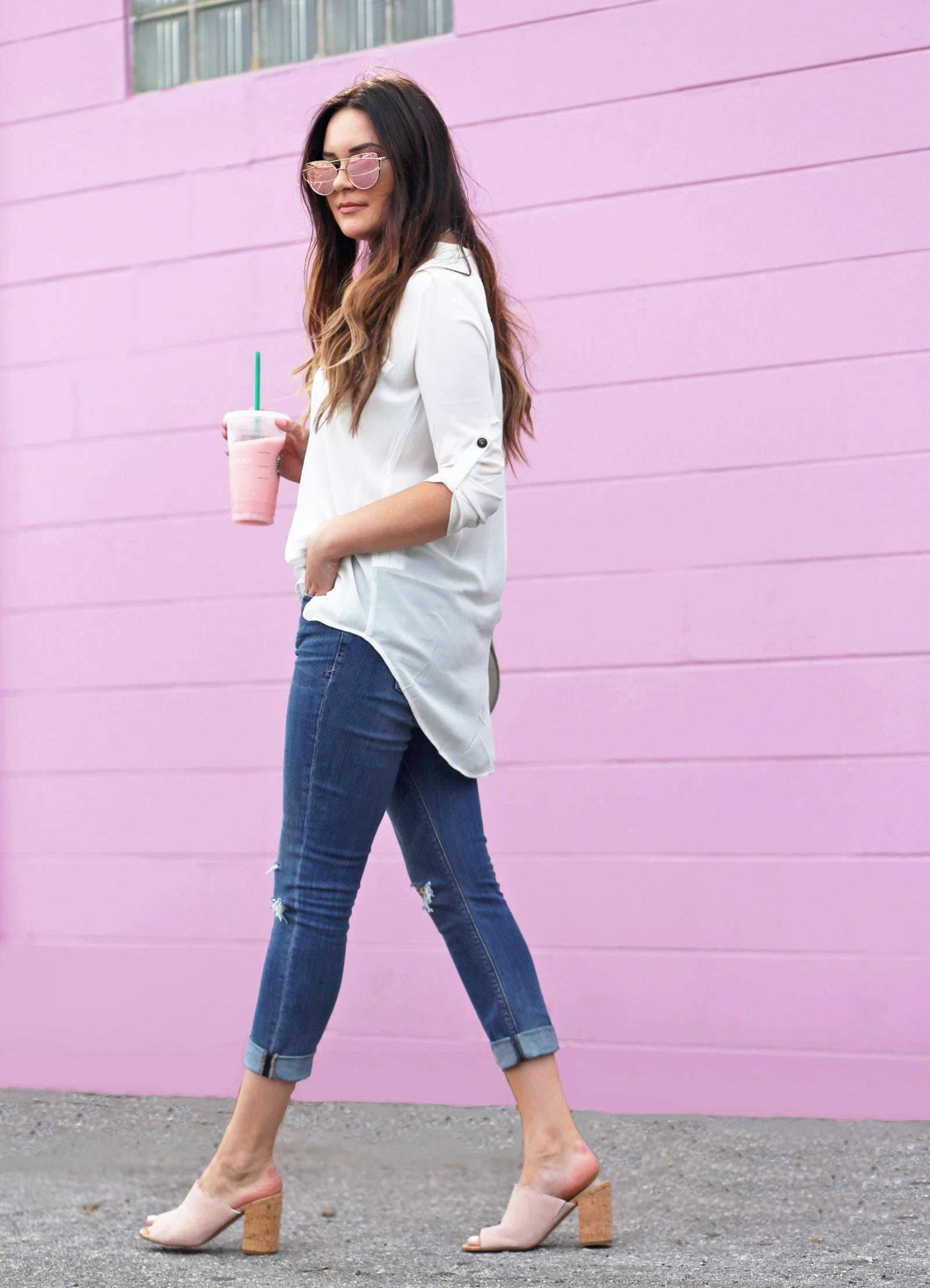 how to style mules for spring | fashion blogger Mash elle | mules | mules shoes