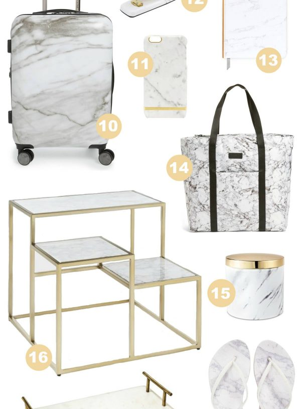 The Best Marble And Gold Home Decor Finds