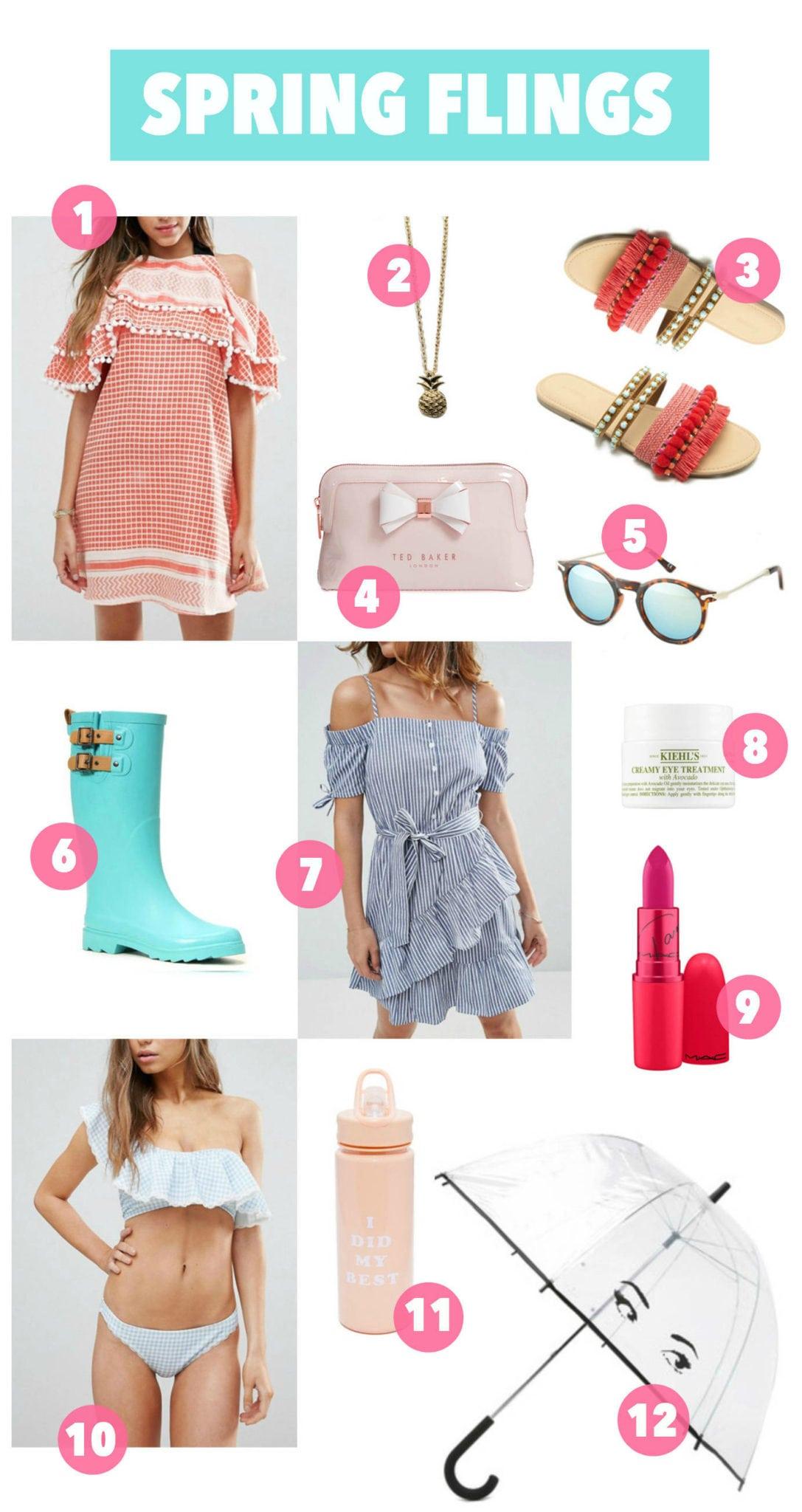 Spring flings on a budget   Mash Elle beauty blogger    boots   lipstick    umbrella   spring gifts