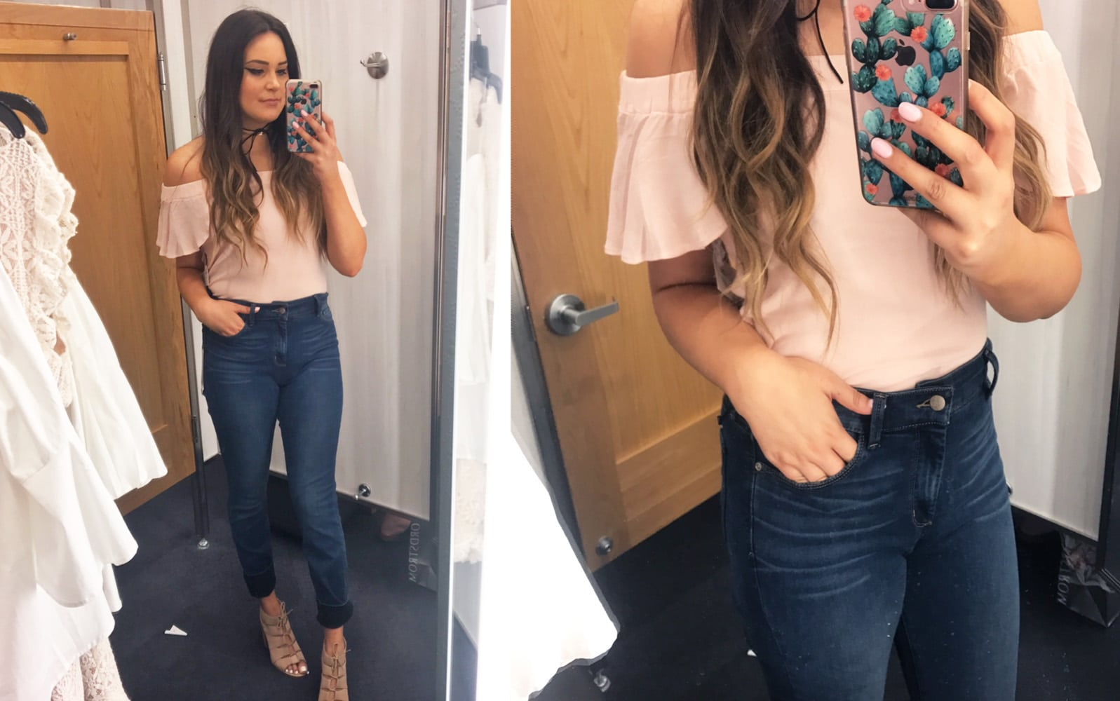 Nordstrom half yearly try on haul | Mash Elle bell sleeves | Nordstrom shopping | Nordstrom Sale | jeans | bell sleeves jeans pink