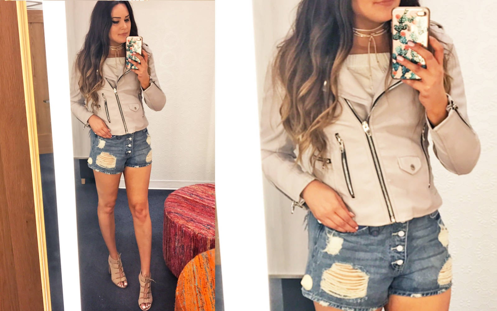 Nordstrom half yearly try on haul | Mash Elle bell sleeves | Nordstrom shopping | Nordstrom Sale | jeans | moto jacket shorts