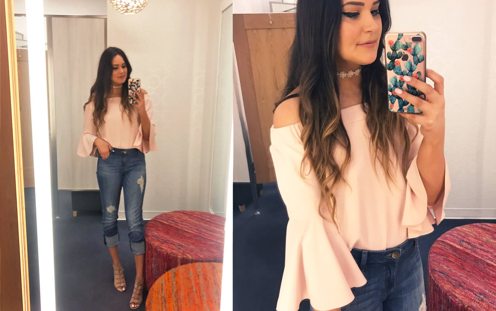 Nordstrom half yearly try on haul | Mash Elle bell sleeves | Nordstrom shopping | Nordstrom Sale | jeans | pink