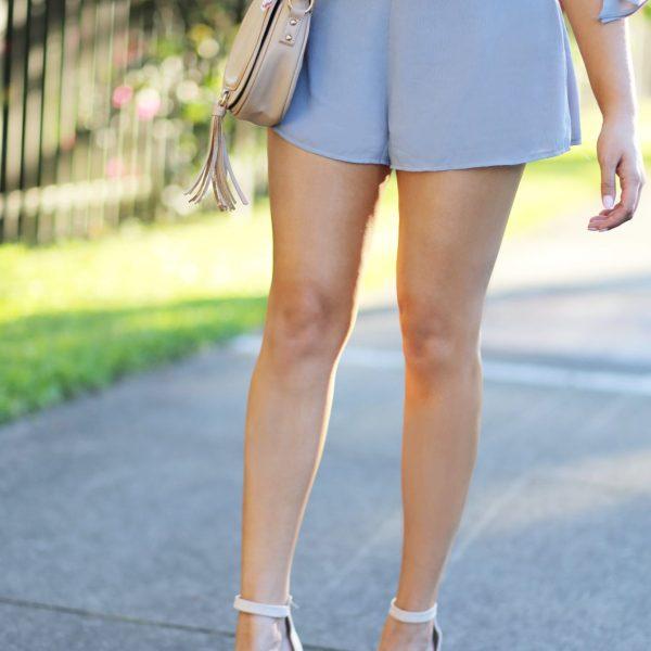 scarf off the shoulder dreamy flattering romper beauty blogger Mash Elle