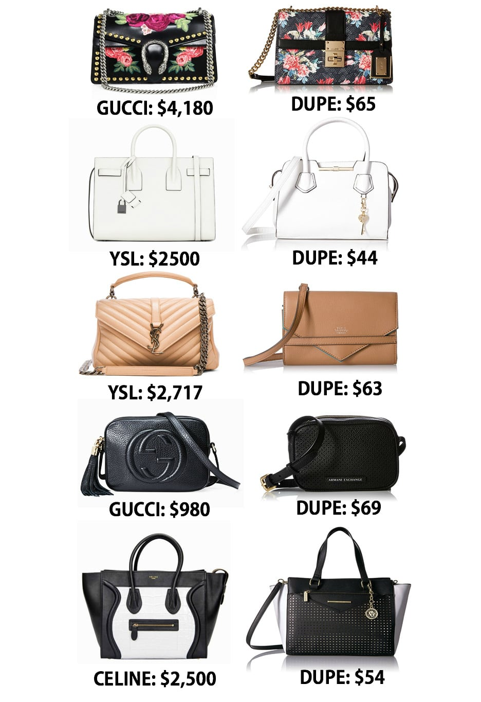 0d2f755dc5 The Ultimate Designer Bag Dupes Guide by popular Orlando fashion blogger  Mash Elle
