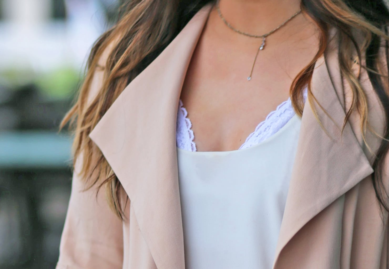 romantic look   pink coat   white shirt   bralettes   kohls   black heels  Mash elle beauty blogger