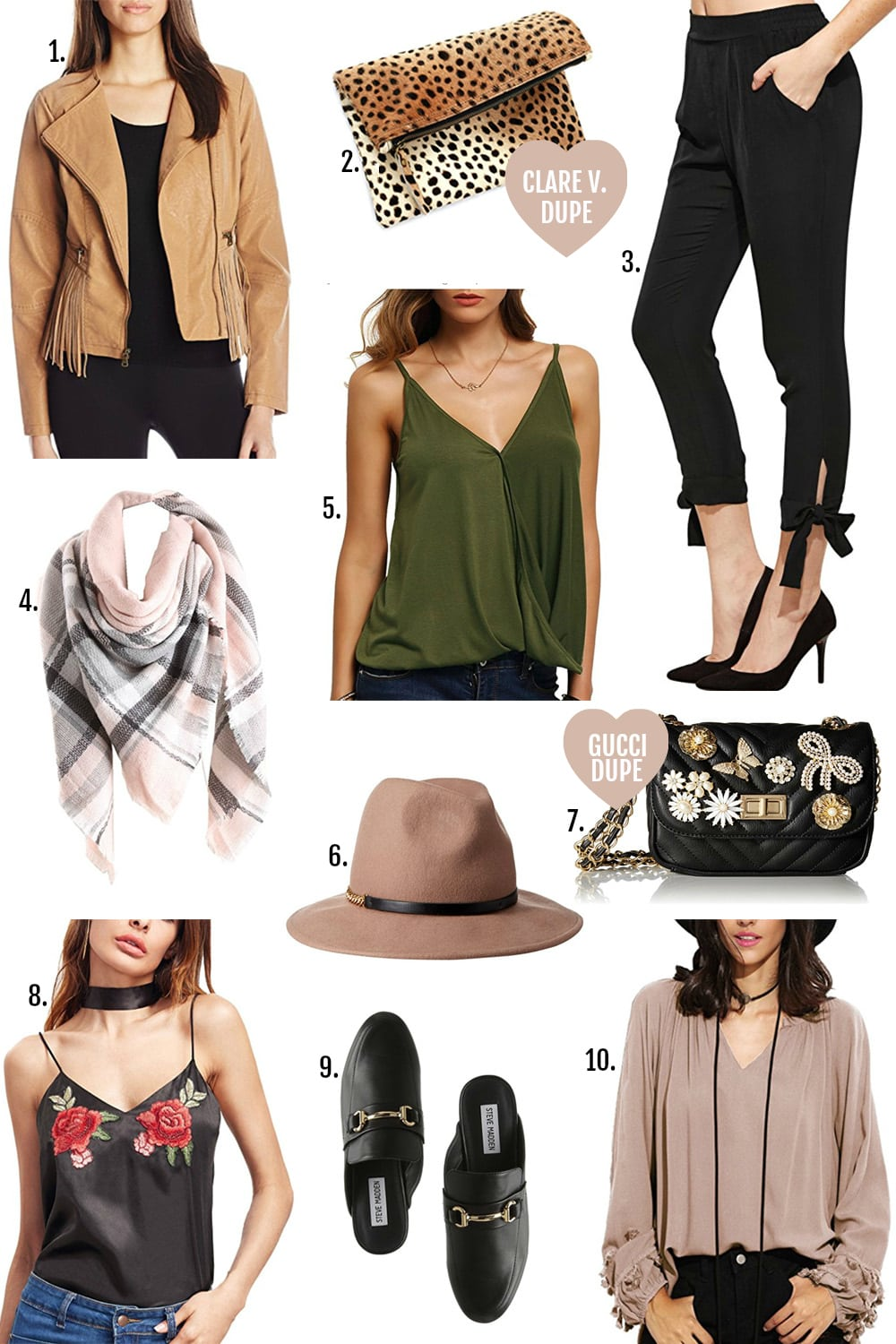 Amazon Fall fashion finds under $100 | Mash Elle fashion blogger | Gucci designer bag dupe | Chloe designer bag dupe | over the knee boots | affordable style for women | flattering trench coat | skinny ripped jeans for less | clothing for curvy girls | designer fashion dupe  | Gucci bag dupe