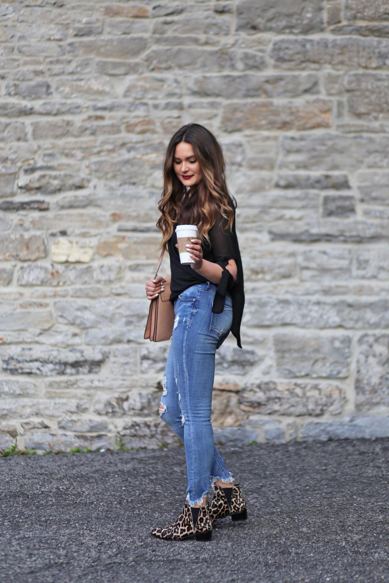 Leopard print boots | beauty blogger Mash Elle | leopard print | fall fashion | leopard print style | print