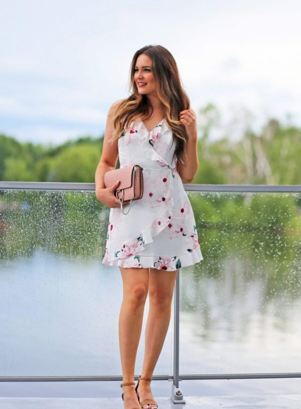 floral ruffle dress summer outfit beauty blogger Mash Elle
