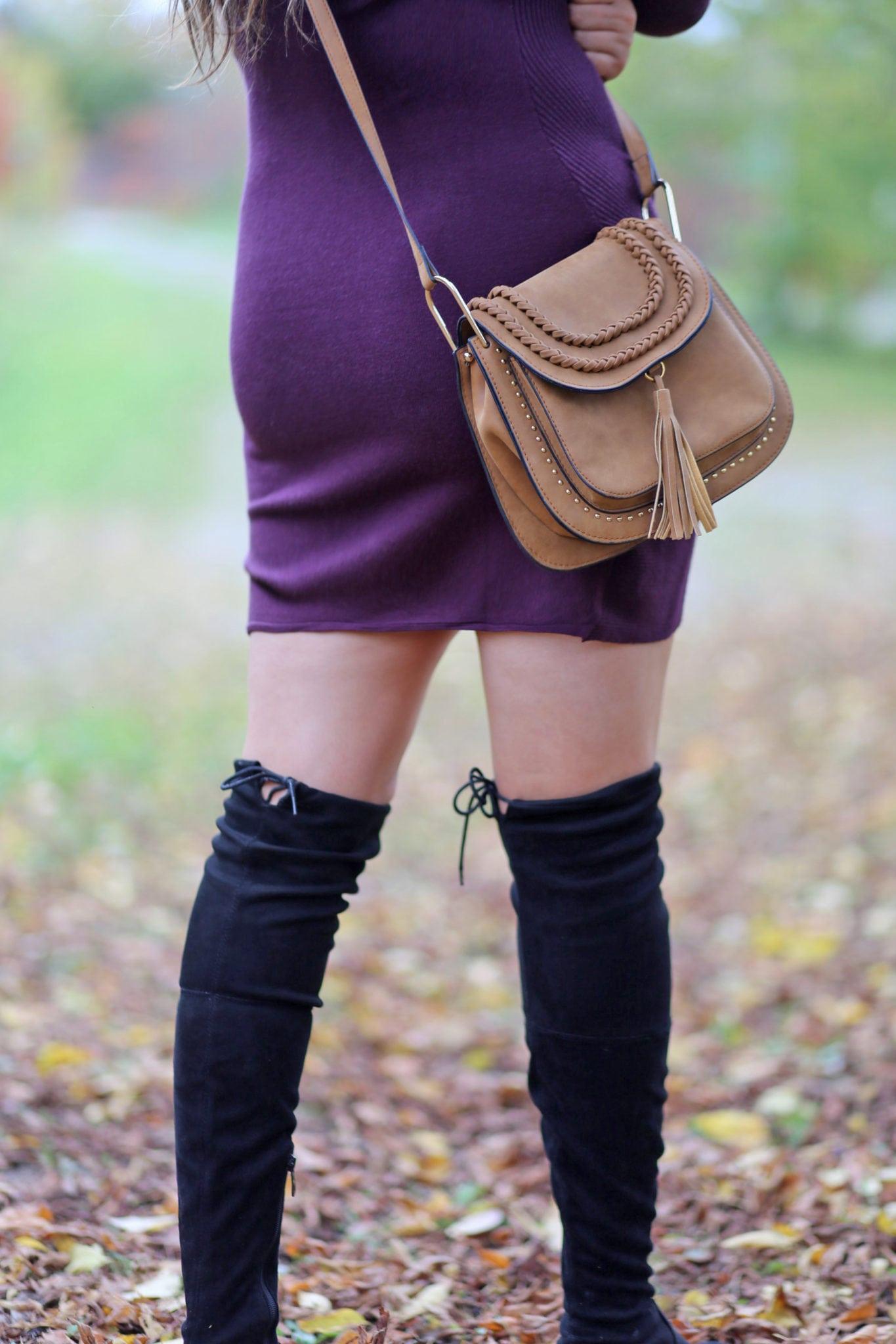 identical chloe designer bag dupe | comfortable over the knee boots | Mash Elle style blogger
