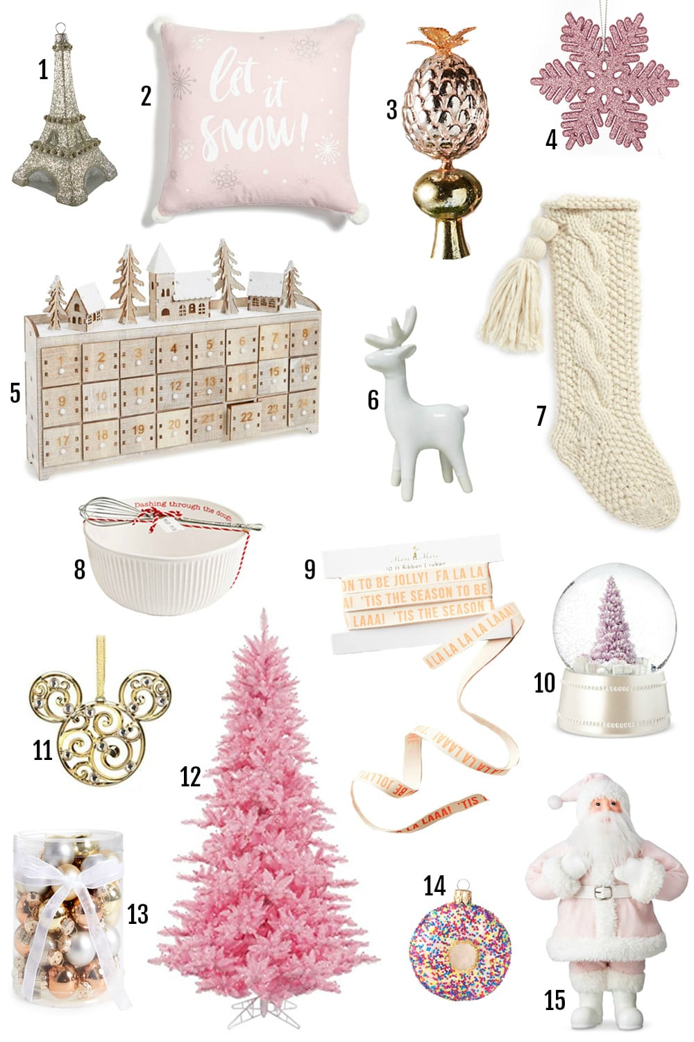 Lifestyle blogger |  Mash Elle | Christmas decor | best Christmas decor | pink christmas tree