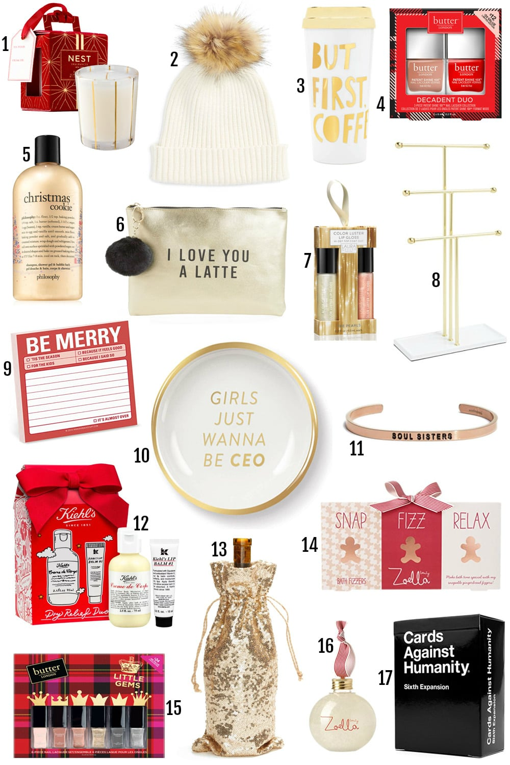 The BEST Gifts For Her Under $25 by popular Orlando style blogger Mash Elle | I love you a latte, zoella beauty