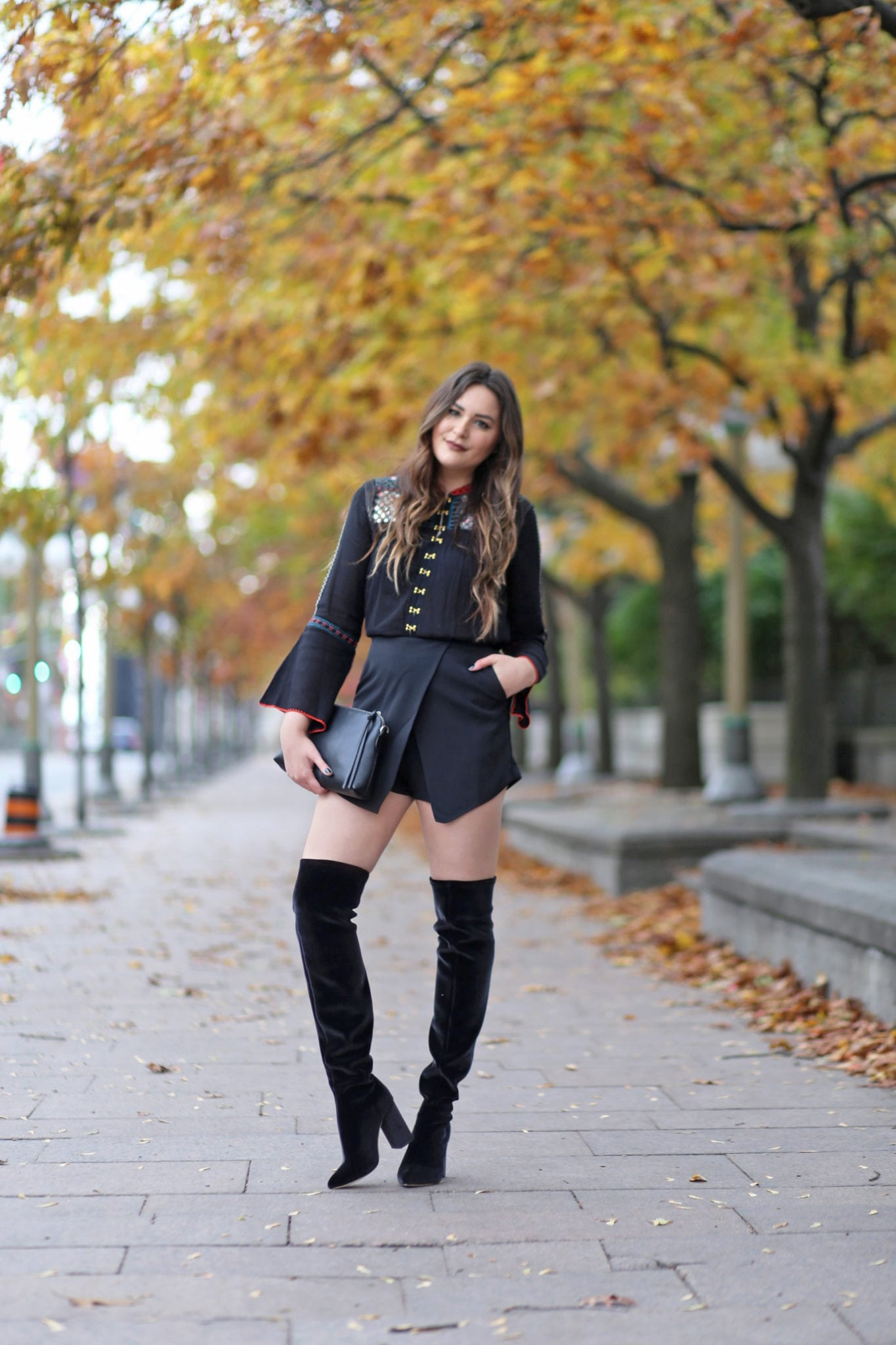 blogger Mash Elle how to style OTK boots in warmer weather