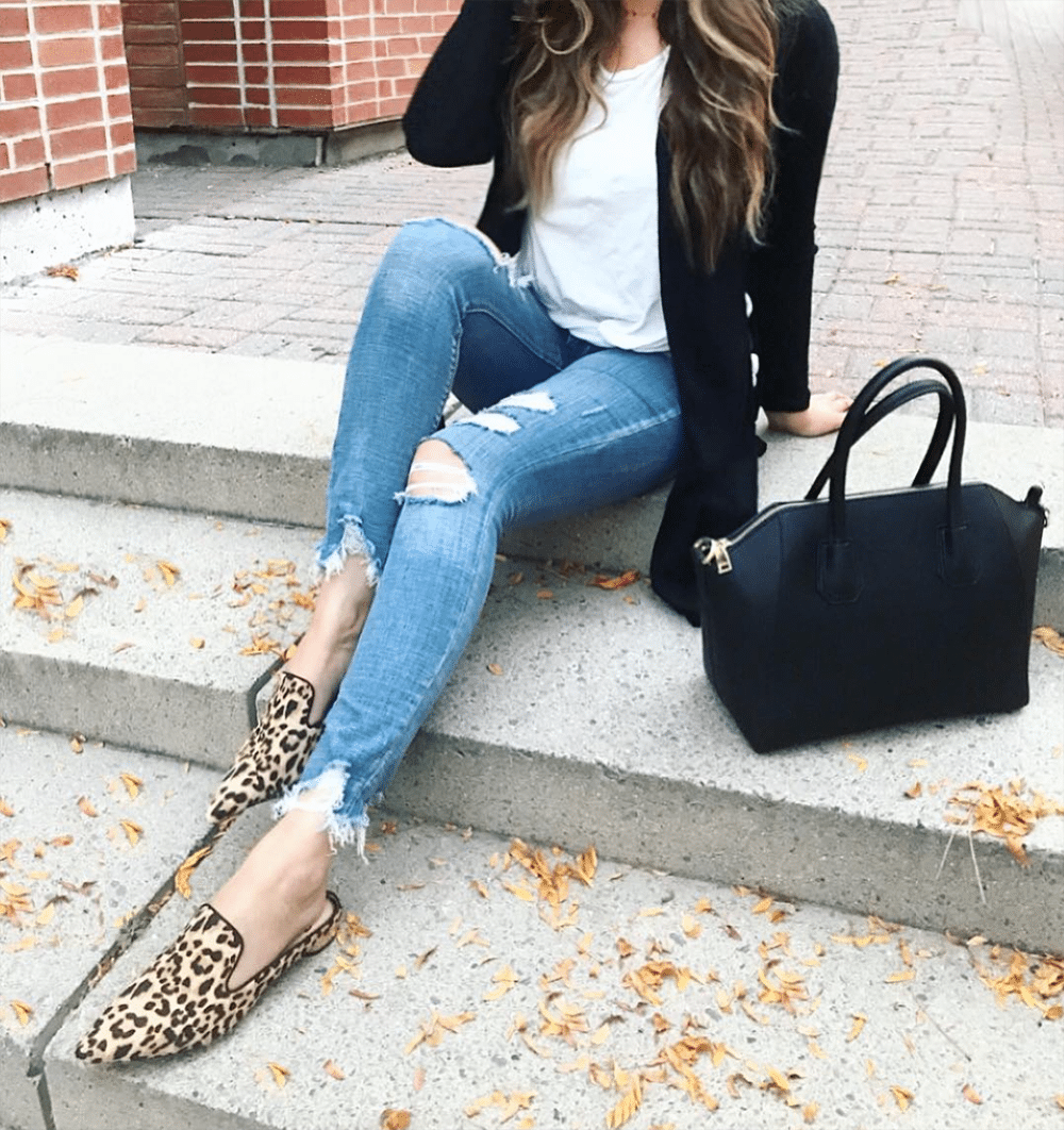 best ripped jeans | comfortable and cheap leopard flats | Givenchy designer bag dupe | comfortable ripped jeans