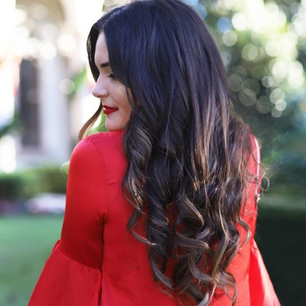 Mash Elle holiday hair on a budget tutorial
