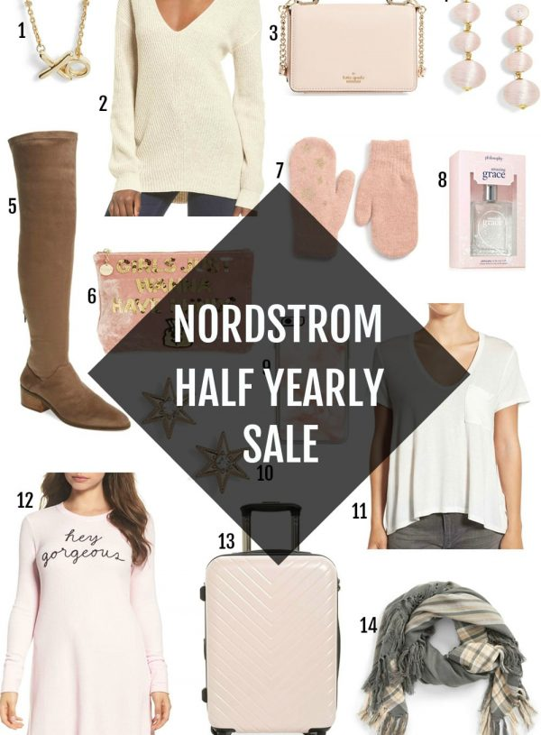 Nordstrom Half Yearly Sale Mash Elle beauty style blogger top picks boots bags kate spade jewelry makeup travel