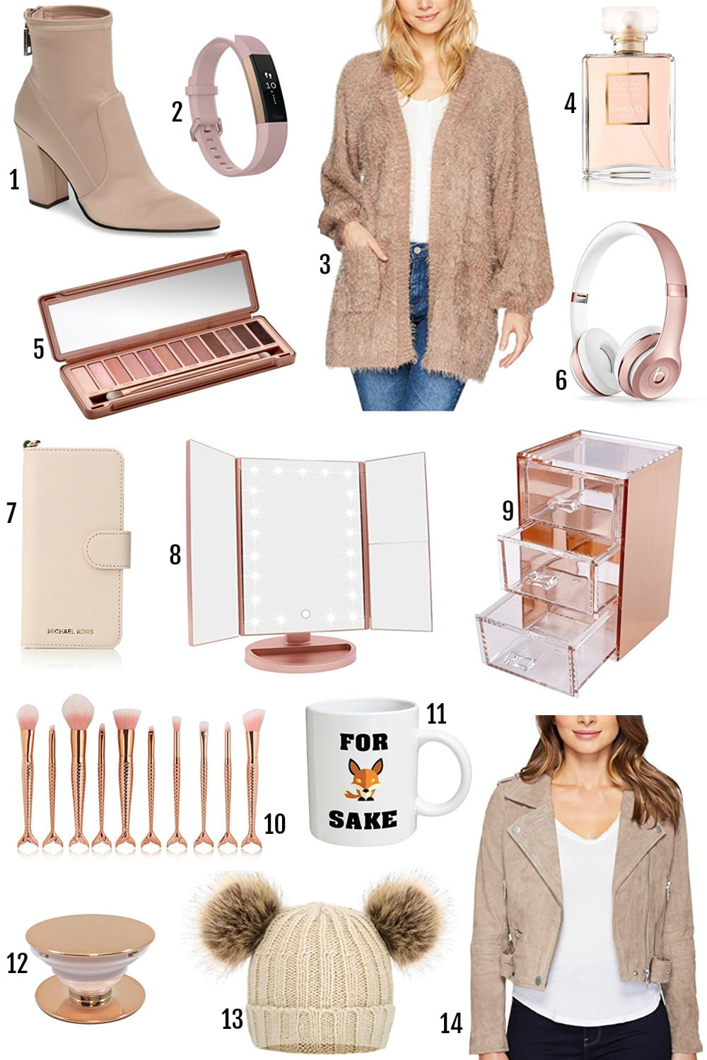 the best gifts for female young adults | rose gold gifts | urban decay naked 3 palette | rose gold phone accessories | gifts for teenagers | stocking stuffers