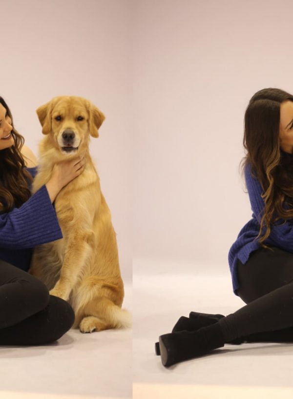 Mash Elle beauty blogger | puppy dog fever | long blue sweater | leggings | boots | dog show | Royal Canin championship
