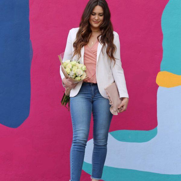 Mash Elle pastels jeans spring outfit