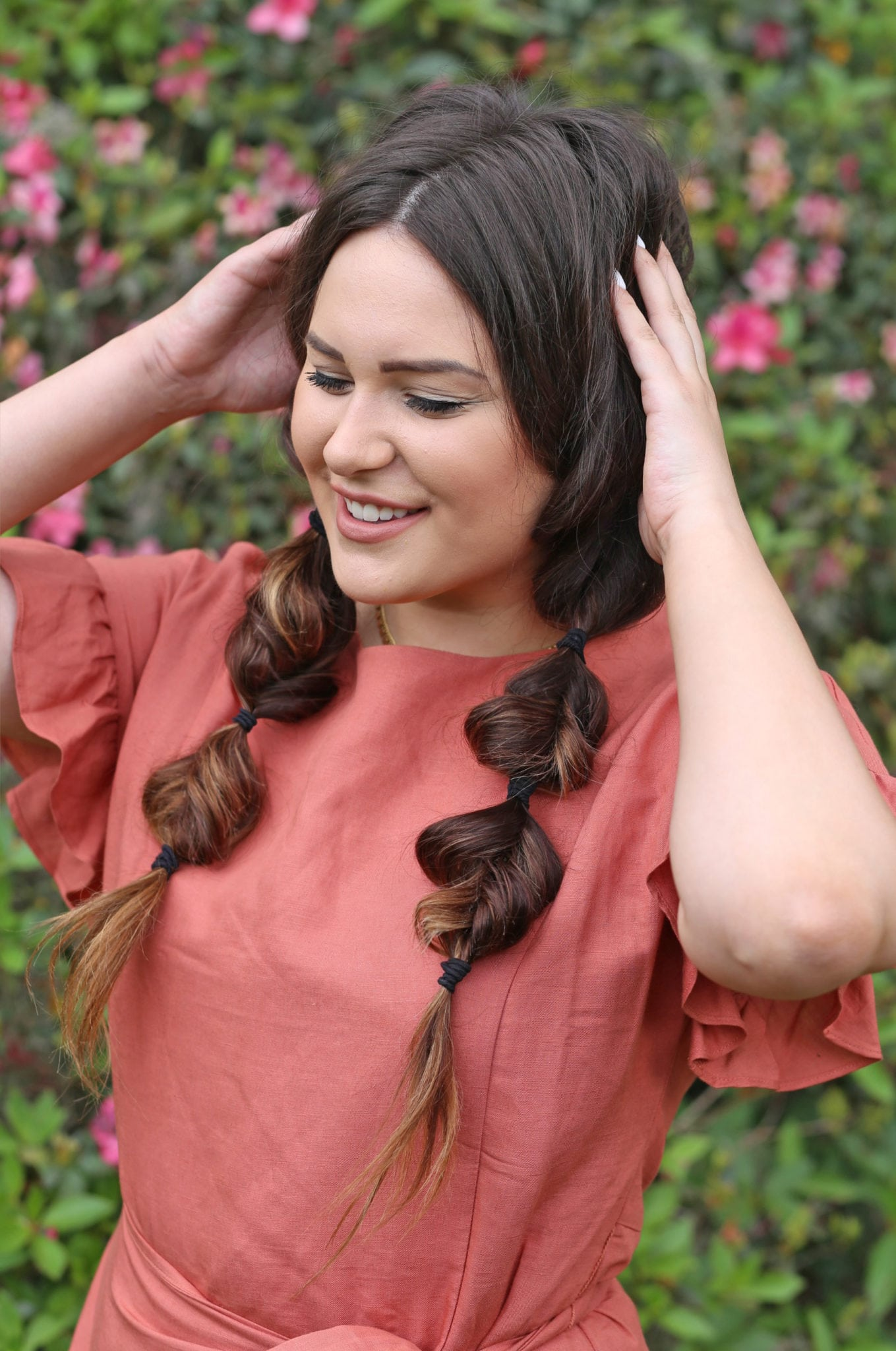 Beauty blogger Mash Elle easy heatless hairstyles for Spring